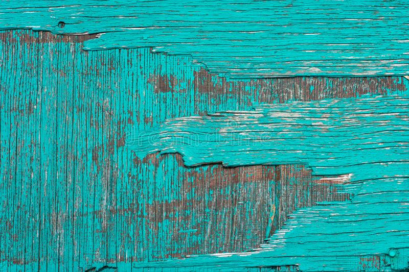 Background image. Texture of old wooden board with cyan painting stock photos