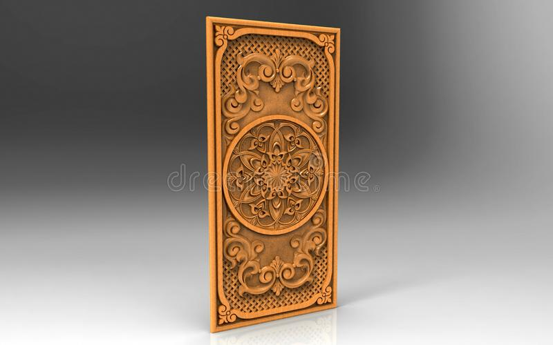 Modern art, artistic direction, home design, three-dimensional image. Background images, drawing, pattern, creativity, inspiration, vintage, wood - material royalty free illustration