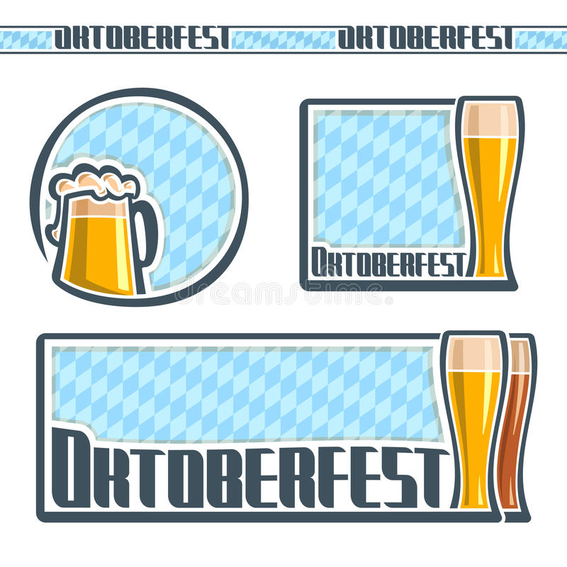 Background images for text on the theme of Oktoberfest royalty free illustration