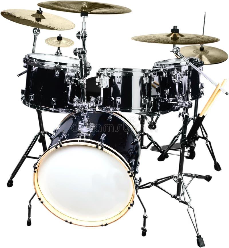 Drum Kit Isolated on White Background royalty free stock photos
