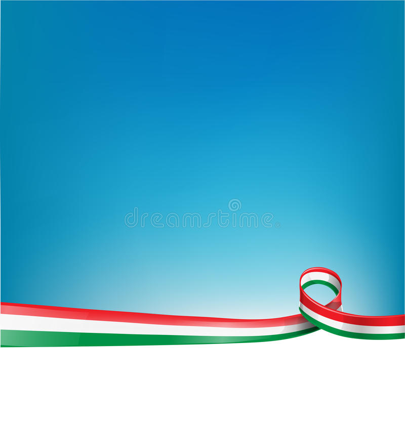 background with Italian flag stock illustration