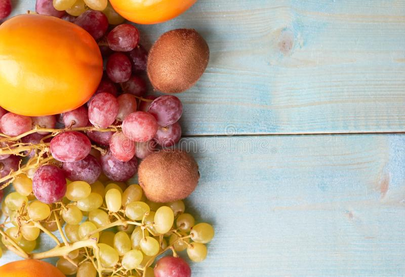 Background of juicy fruits stock images