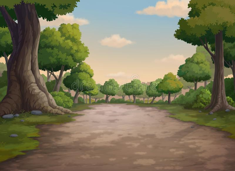 Background for jungle and natural at the evening. stock illustration