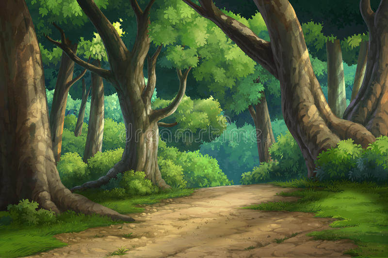 Background for jungle and natural royalty free illustration
