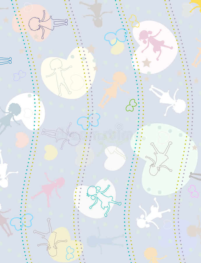 Download Background for kids stock vector. Image of creative, cartoon - 10972110