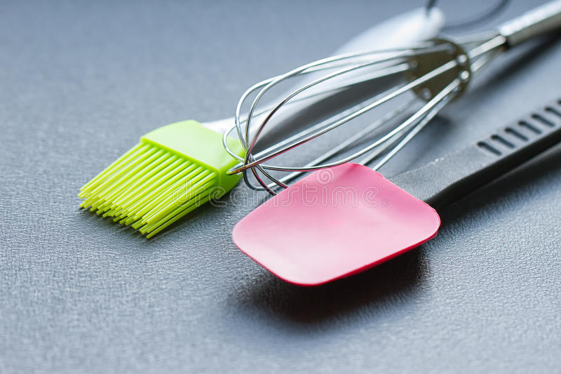Background of kitchen utensils royalty free stock photo