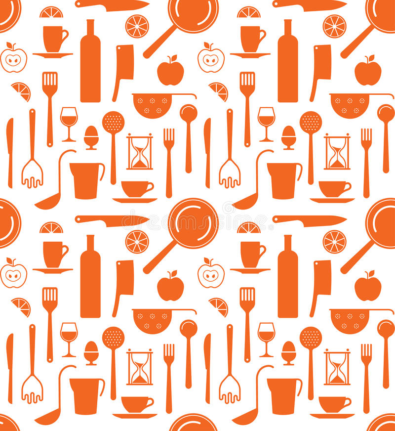 Kitchen Utensils Background background with kitchen utensils silhouettes stock vector - image