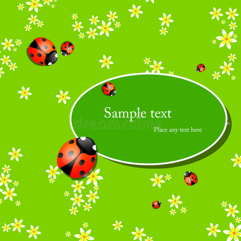 Background with lady bugs royalty free illustration