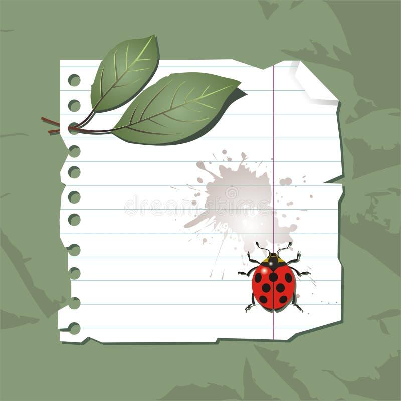 Background with ladybird stock illustration