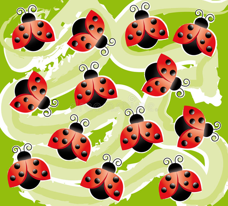 Download Background with ladybugs stock illustration. Illustration of dimensional - 16038551