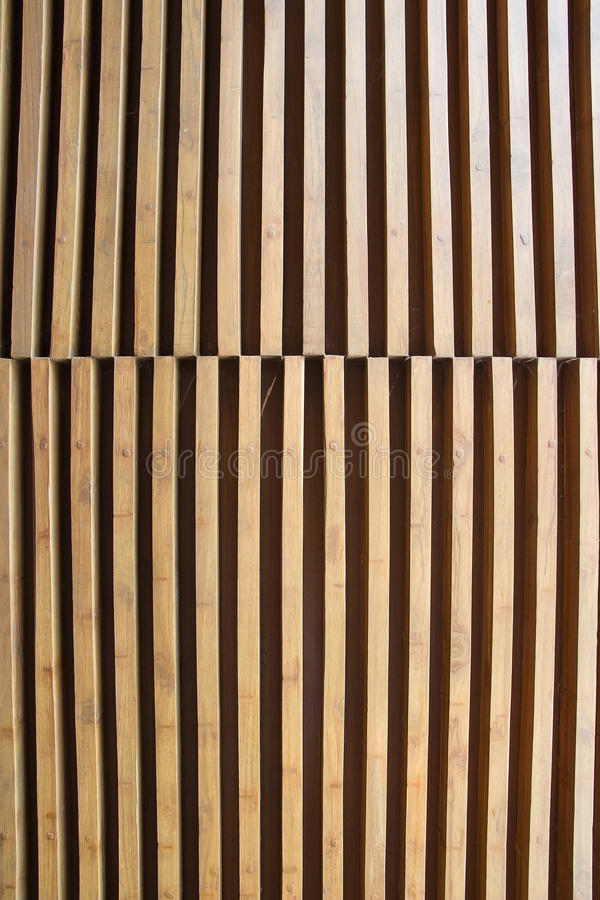 Background lath. The Background slat arrangement beautiful stock image