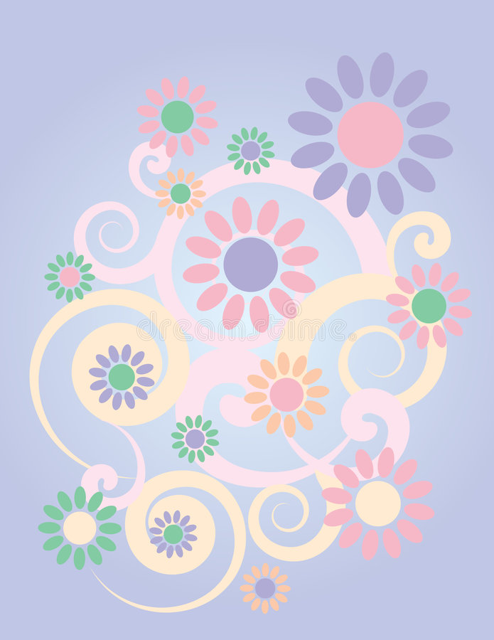 Background_Lavender floral illustration de vecteur