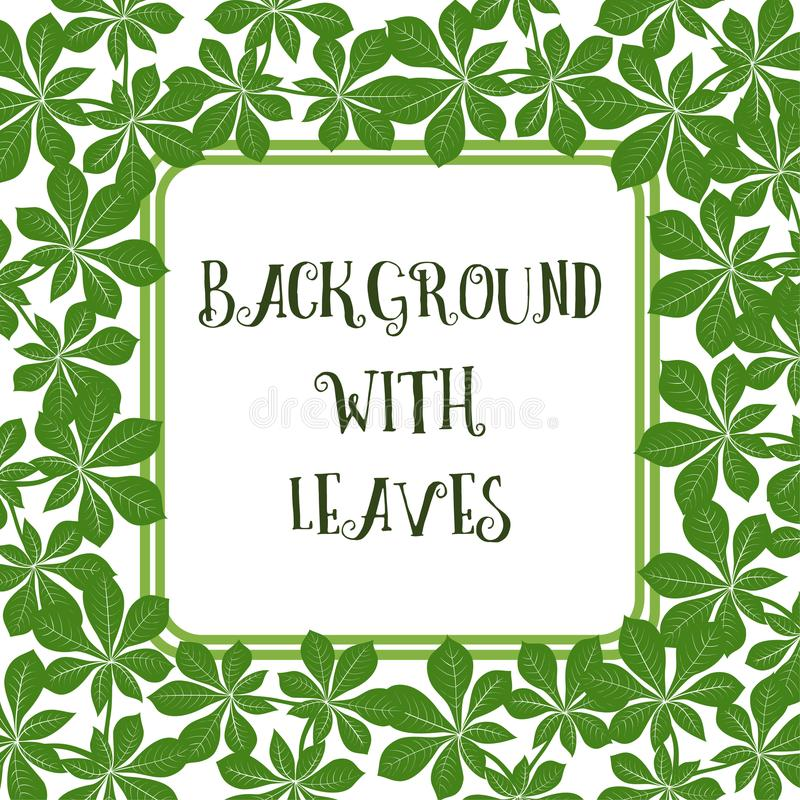 Background with Leaves royalty free illustration