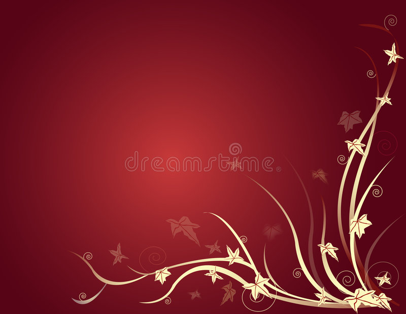 Background with leaves on radial back vector illustration