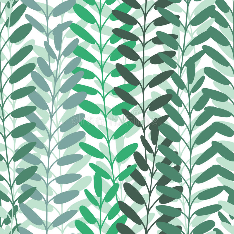 Background with leaves. Vector pattern. stock illustration
