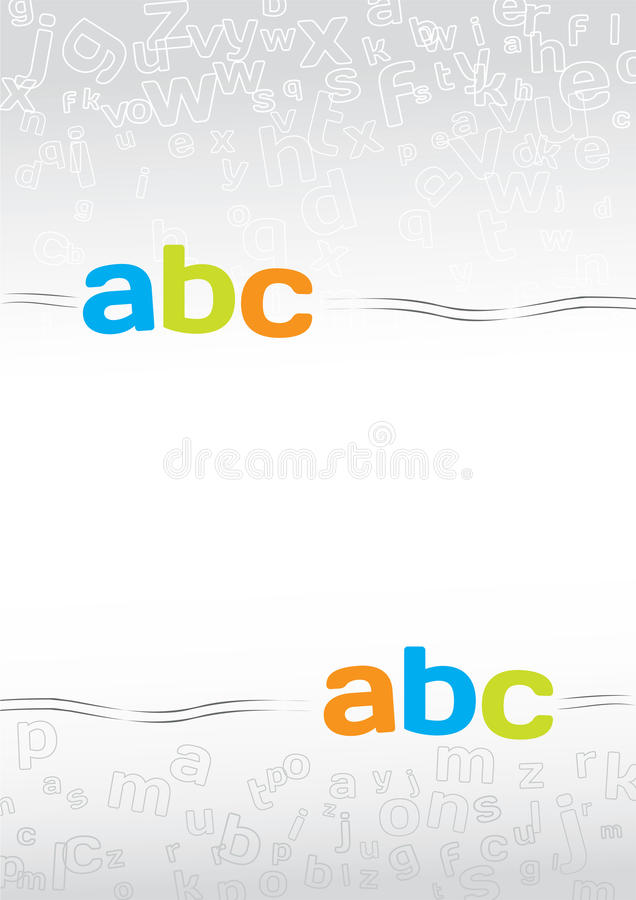 Background with letters stock illustration