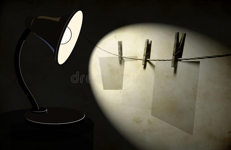 Background With Lighting Desk Lamp Royalty Free Stock Photos