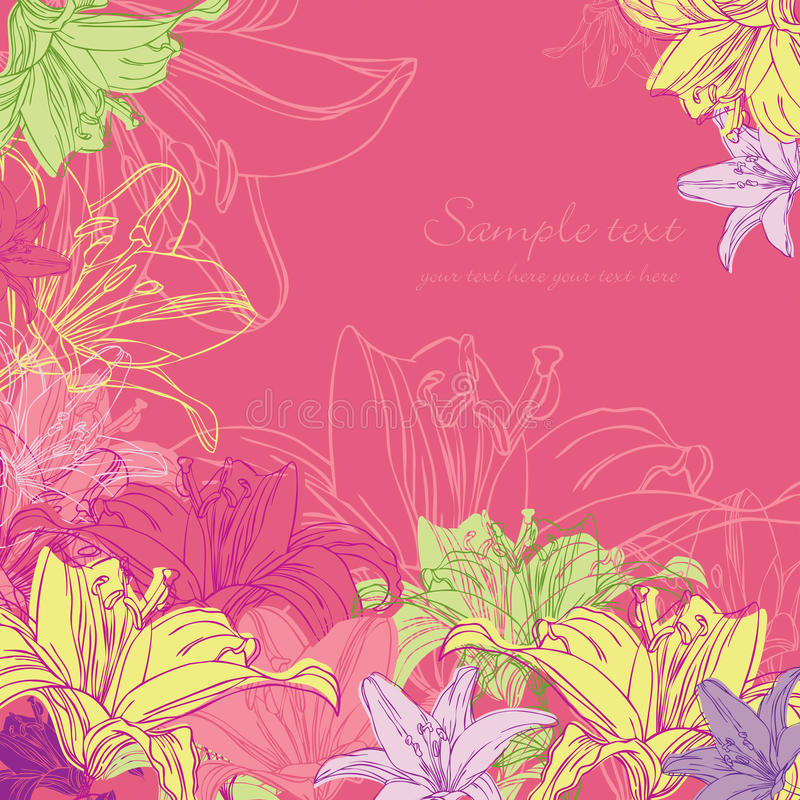 Download Background with lily stock photo. Image of leaf, frame - 23509964