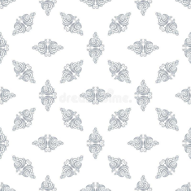 Background3 lineare floreale illustrazione di stock