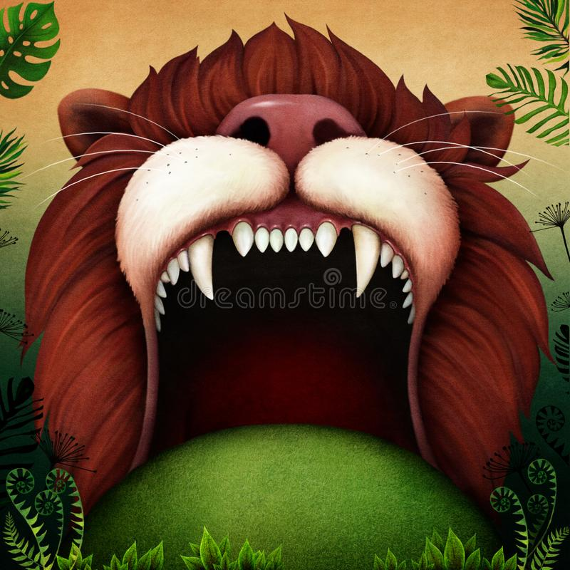 Free Background Lion`s Mouth In The Jungle Royalty Free Stock Images - 160968419