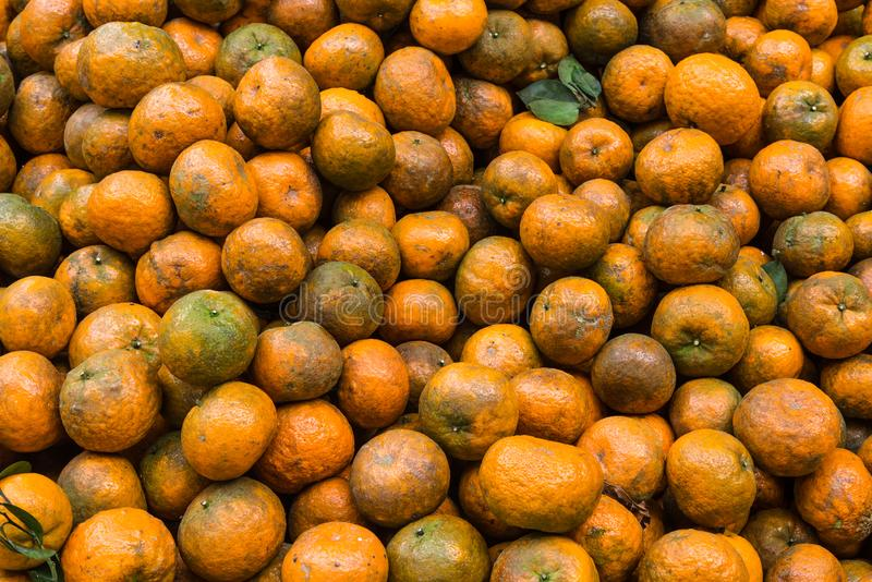 Background of Local famous orange fruit, Big ball, shell thick and sweet taste in VietNam.  stock photo
