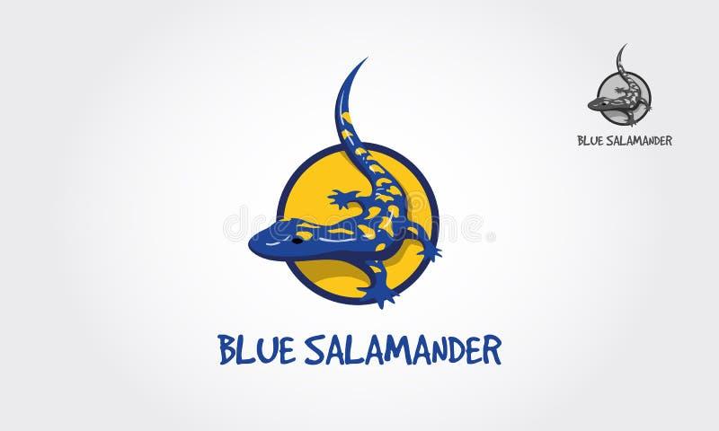 Blue Salamander Vector Logo Template stock photography