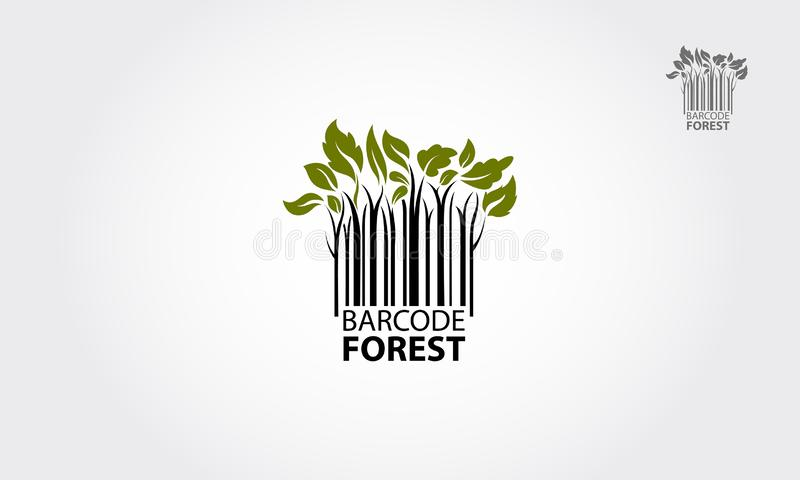 Barcode Forest Vector Logo royalty free stock photo