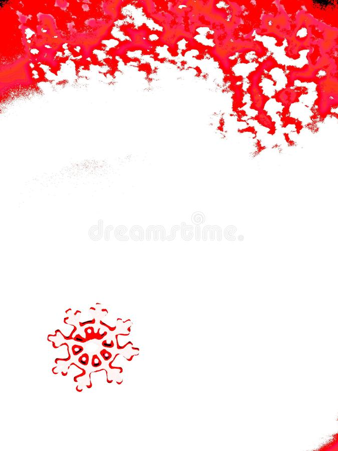 Portrait oriented posterized snowflake on background resembling heart vector illustration