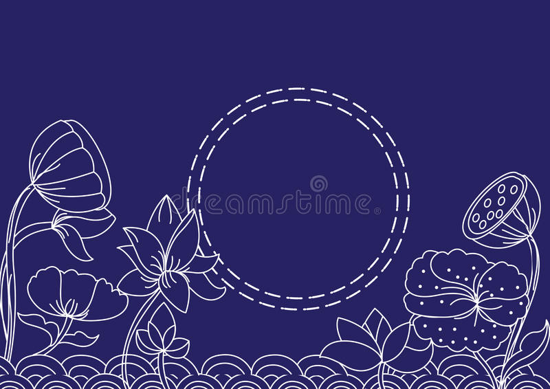 Background lotus royalty free stock photography