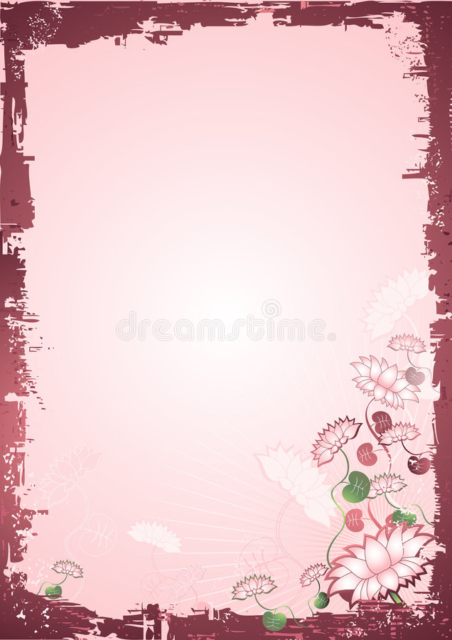 Background with Lotus flowers stock photo