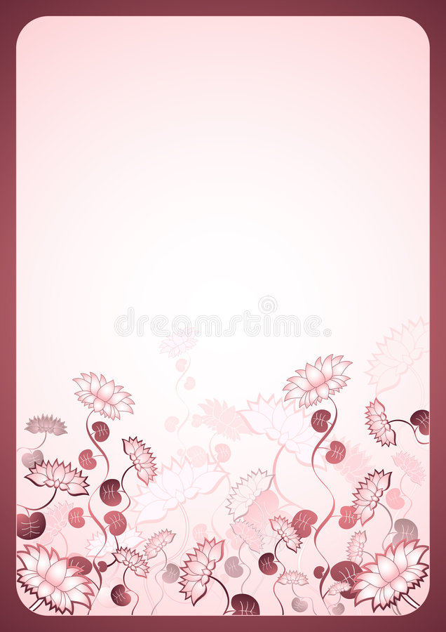 Background with Lotus flowers royalty free stock image