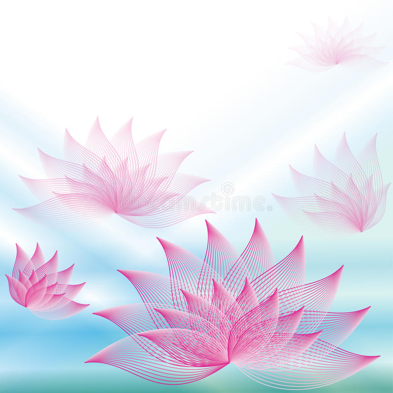 Background with lotuses royalty free illustration