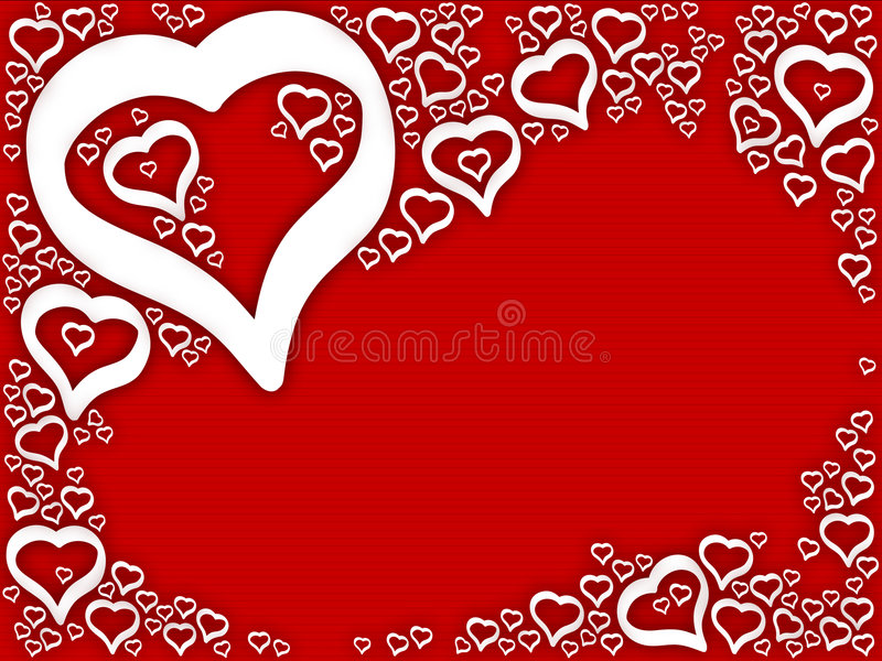 Background love hearts. Easy extraction and editing royalty free illustration