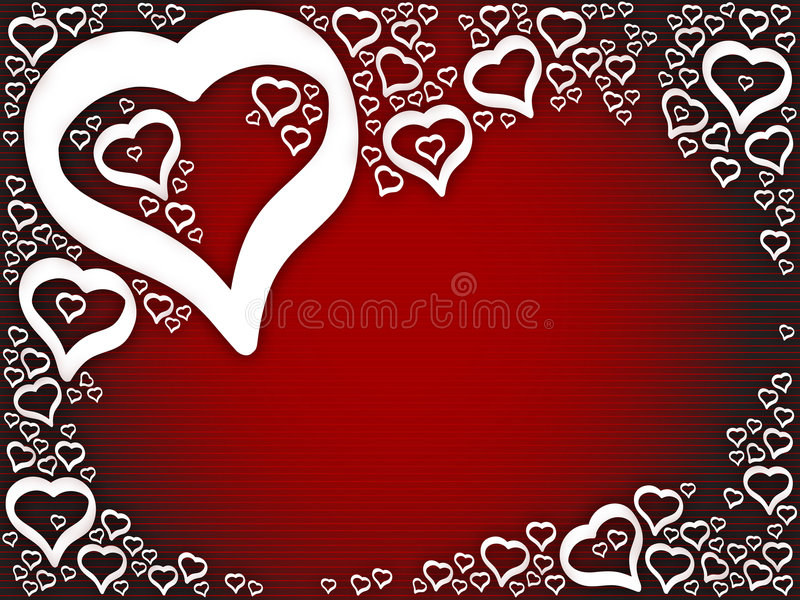 Background love hearts. Easy extraction and editing stock illustration