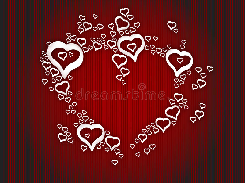 Background love hearts. Easy extraction and editing vector illustration