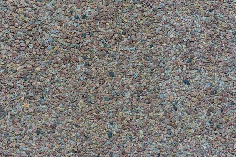 Background made of a closeup of a pile of crushed stone. Background picture made of a closeup of a pile of crushed stone, material, pattern, texture, gravel royalty free stock images