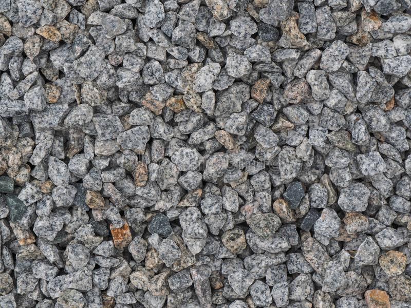 Background made of a closeup of a pile of crushed stone. Background picture made of a closeup of a pile of crushed stone, material, pattern, texture, gravel stock photo