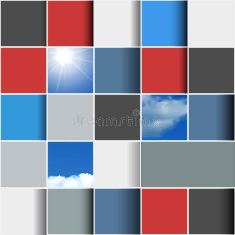Background made of colorful squares royalty free illustration