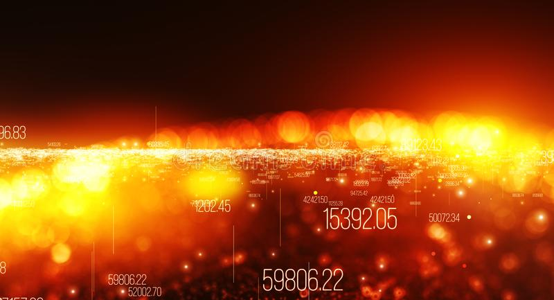 Background made of digits, motion of digital data royalty free illustration