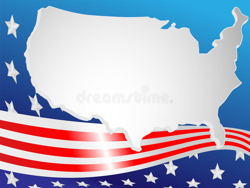 Download Background Made Of A Flag And Map Stock Vector - Illustration of star, four: 15320539