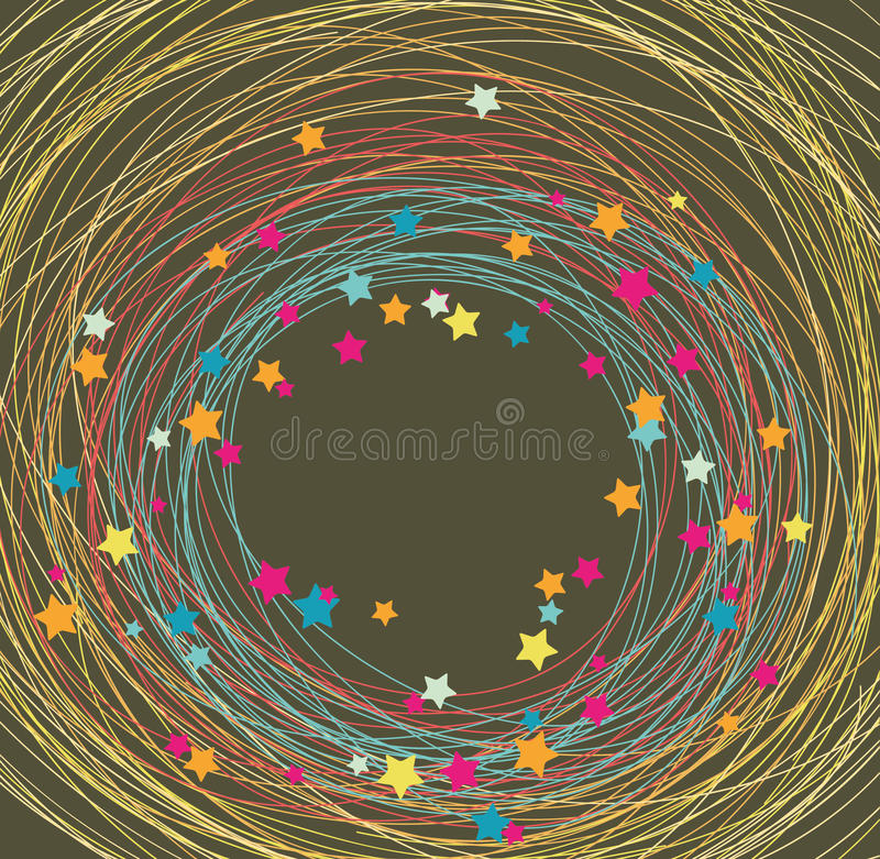 Download Background Made Of Lines And Stars Stock Vector - Illustration of border, activity: 15847296
