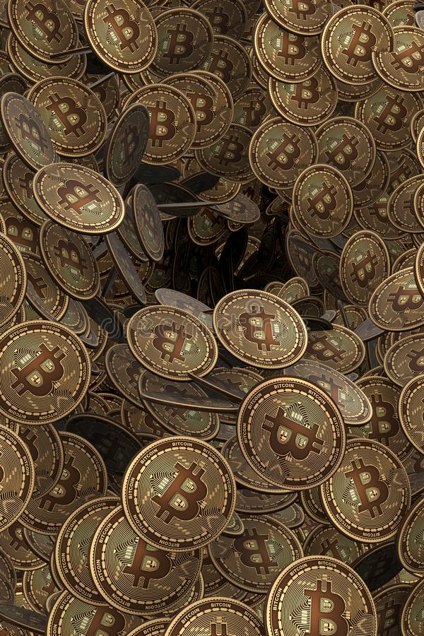 The background made of many cryptocurrency bitcoin - 3d rendering. Background made of many cryptocurrency bitcoin - 3d rendering royalty free illustration