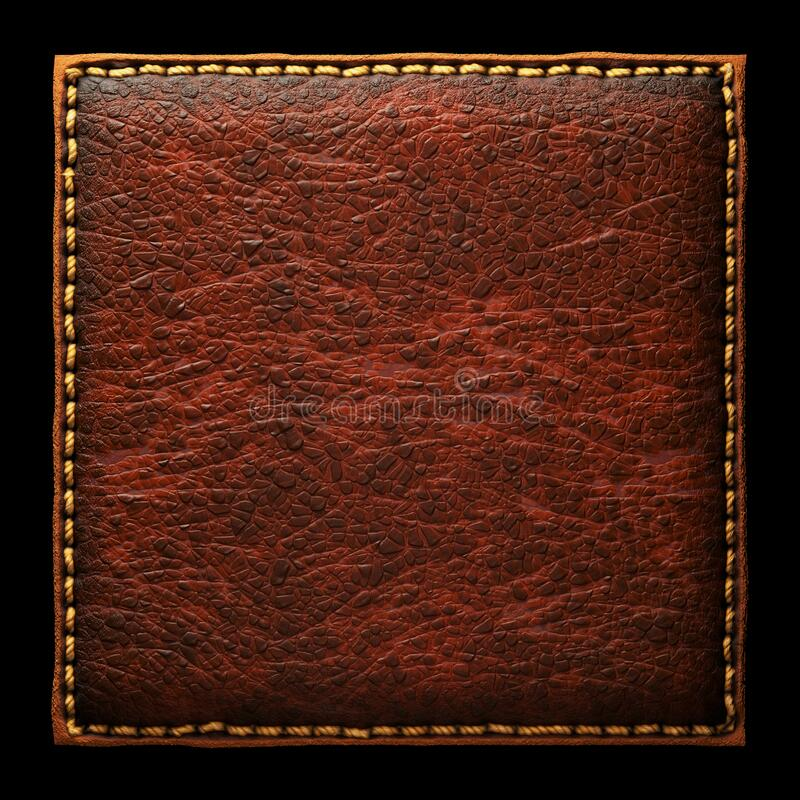 Free Background Made Of Squared Leather. 3D Stock Images - 180080984