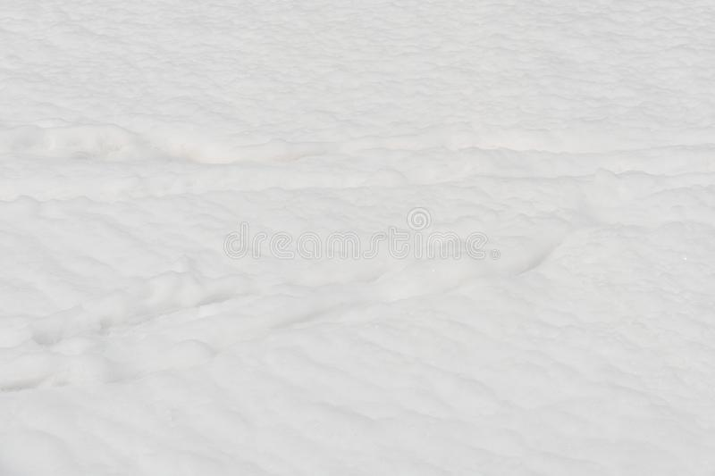 Background made with snow covered road, white background stock photo