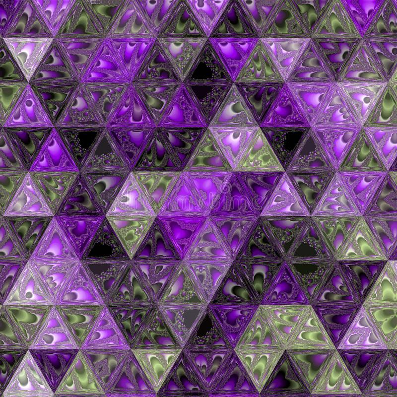 Background made of ultra violet shining triangles, lavender abstract background, low poly crystal transparent pattern stock photography