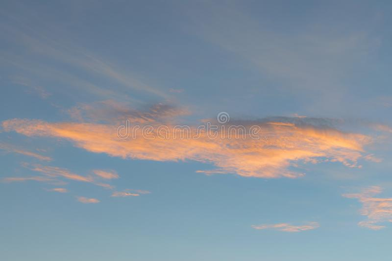 Background with magic of the sky and clouds at dawn and twilight part 19 royalty free stock photos