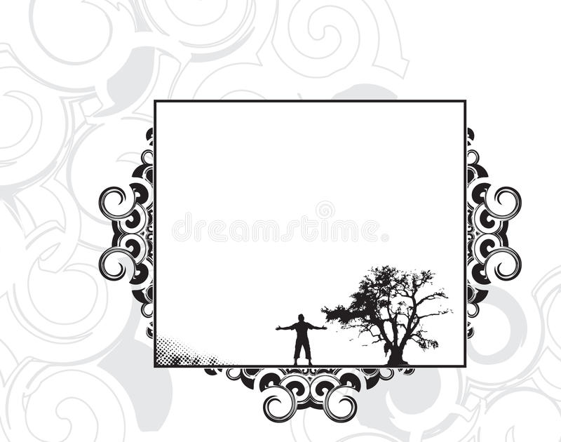 Background with man raising his hands vector illustration