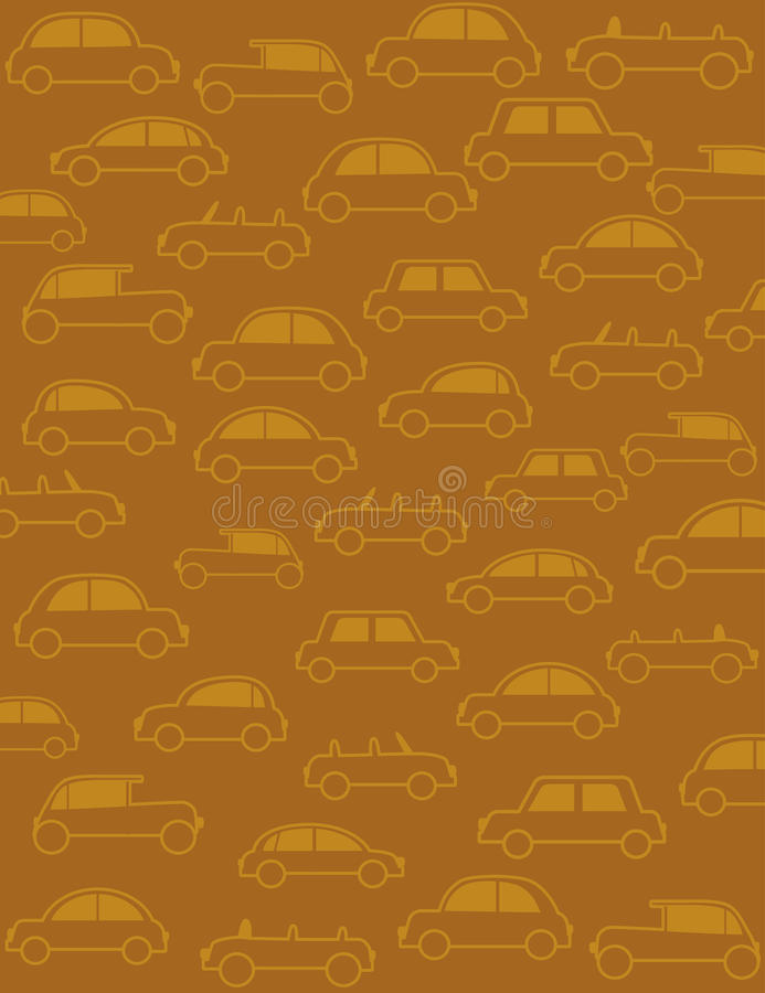 Download Background With Many Cars In Retro Style Stock Vector - Image: 24754942
