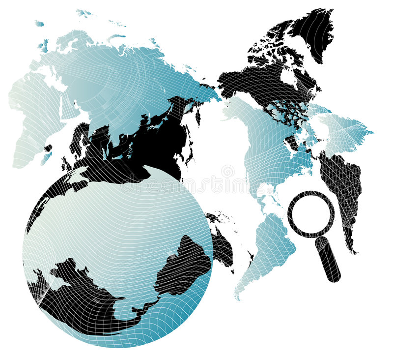 Background with map stock illustration