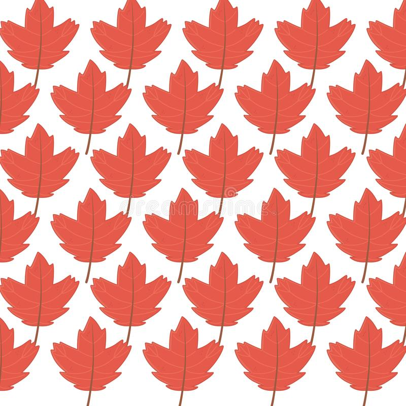 Background maple leaves branches decoration autumn. Vector illustration royalty free illustration